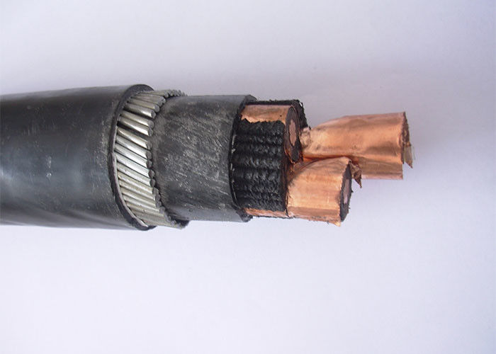 Galvanized Steel Wire Armoured Cable 6 / 10 / 12KV , Aluminium Conductor Cable NA2XFY
