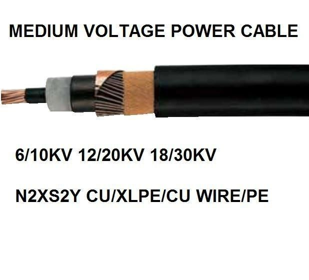 PVC Or PE Sheath Medium Voltage Power Cables , Armoured Electrical Cable N2XS(F)2Y