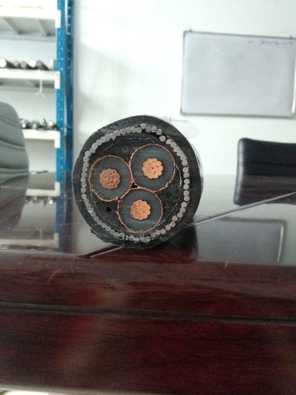 Copper High Voltage Power Cable 15kV 33kV XLPE Insulated Armored Power Cable