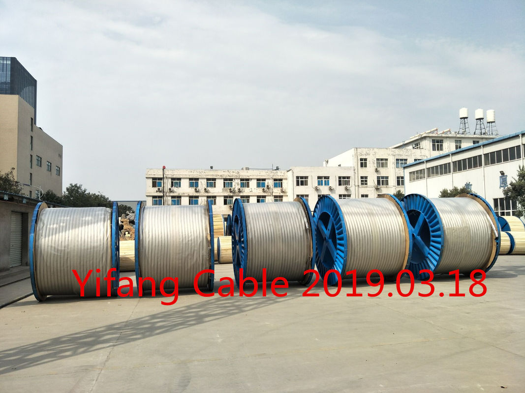 Industrial AAC Conductor Bare Conductor Wire 0.6 / 1kV Voltage Silver Color