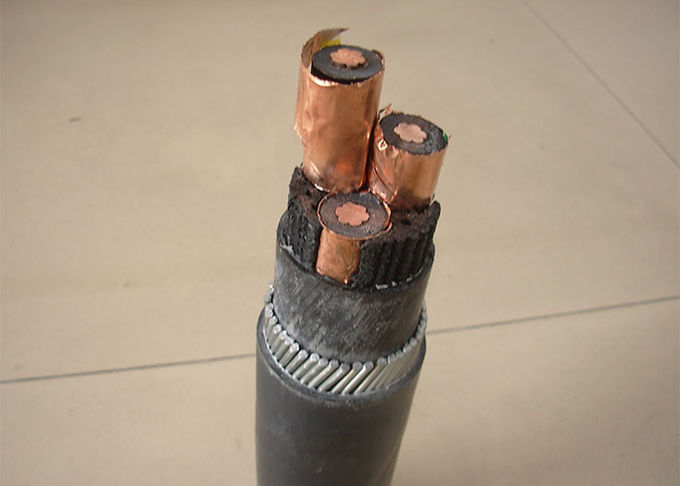 MV power cable 8.7/15KV 3x185mm2  galvanized steel wire armour for underground power transmission